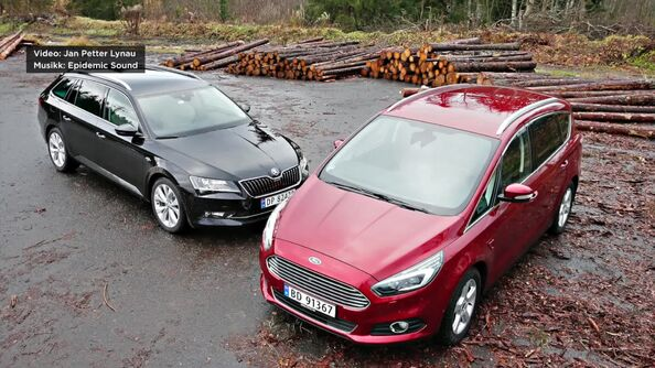Test av Ford S-Max og Skoda Superb